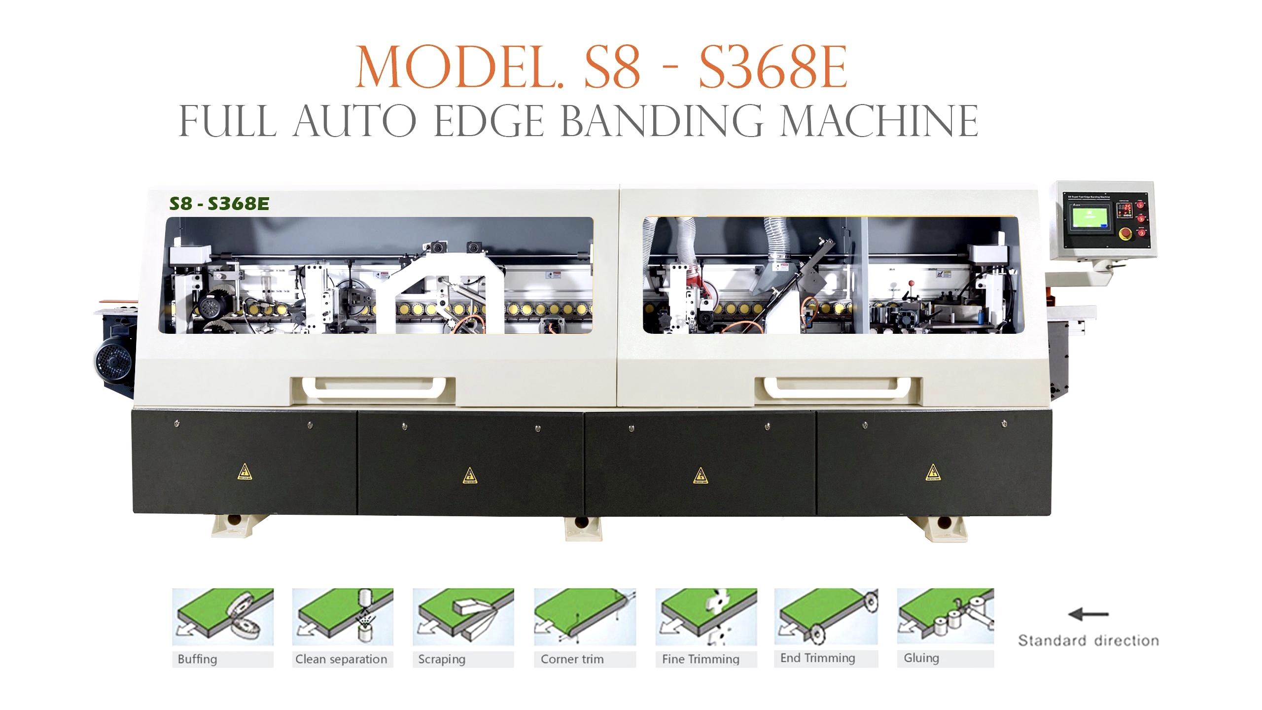 Máy dán cạnh 7 chức năng S8-S368E