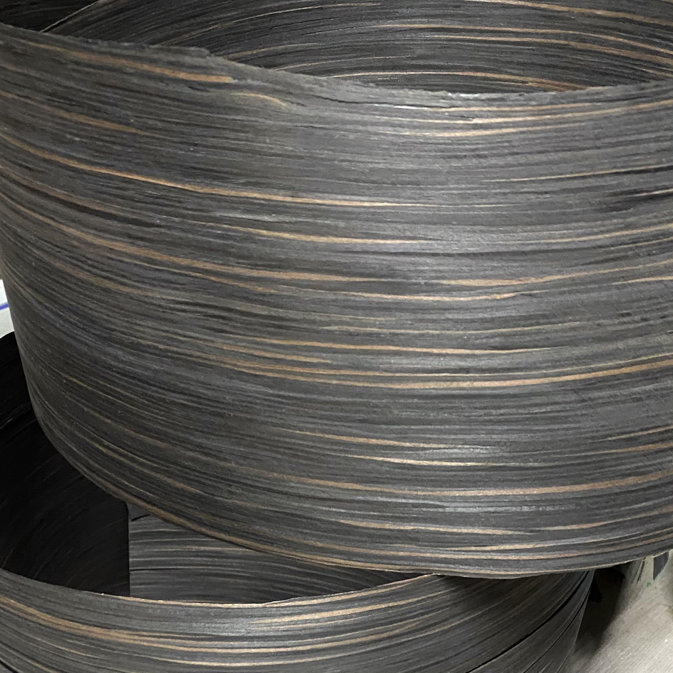 Veneer tự nhiên gỗ Macassar Ebony  kt: 600*2500 mm- VN 06