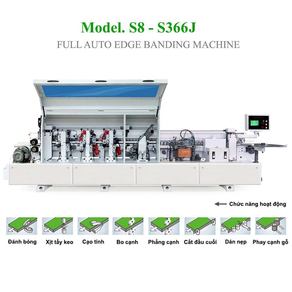 Máy dán cạnh tự động 6 chức năng S8 - S366J