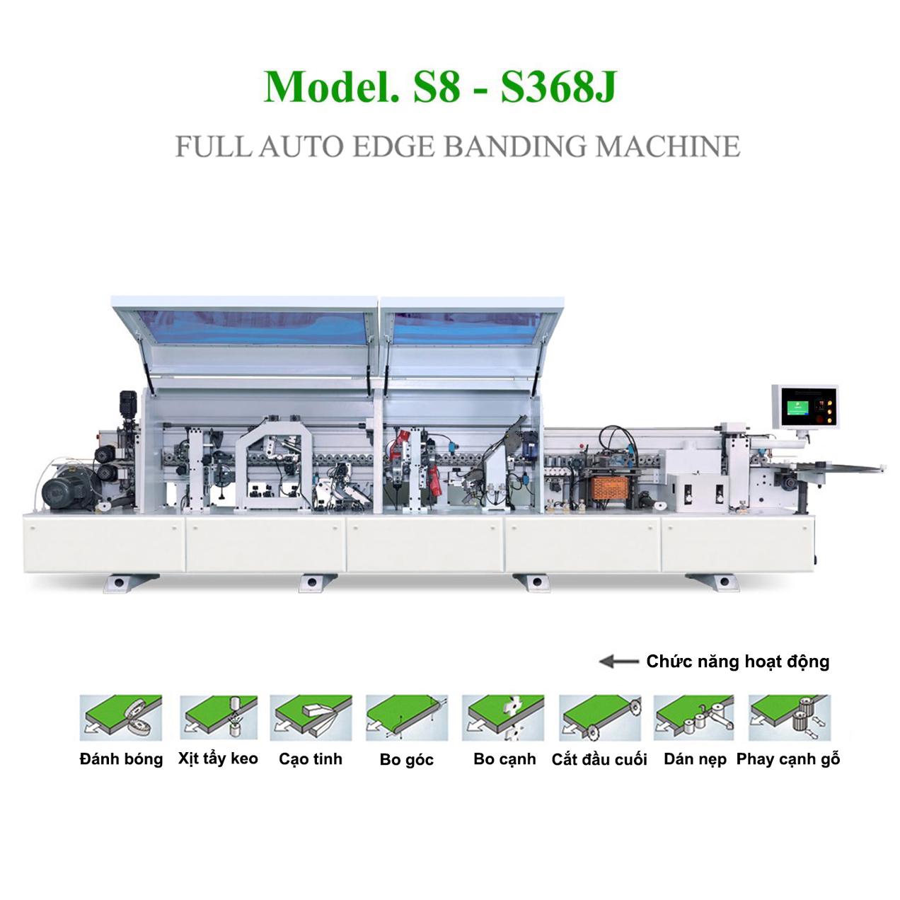 Máy dán cạnh tự động 8 chức năng S8 - S368J