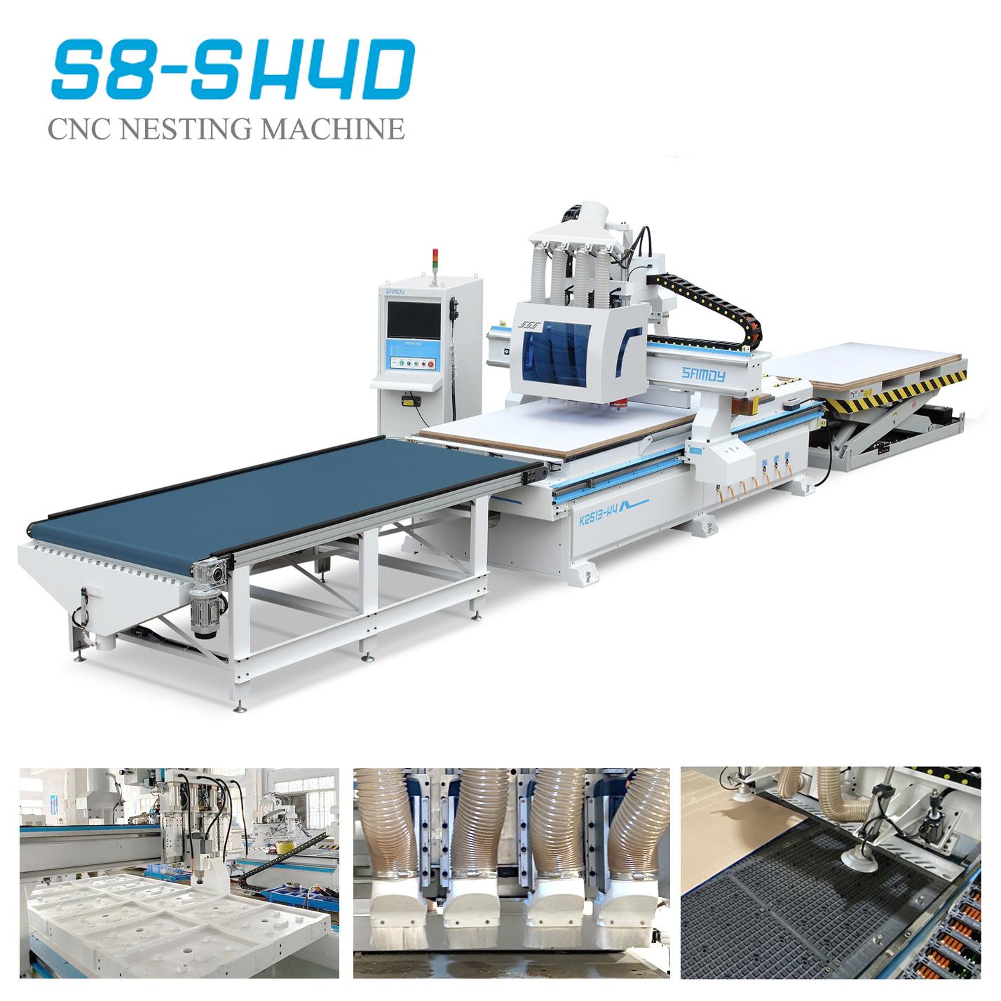 Hệ thống Auto Full Line CNC Nesting S8-SH4D