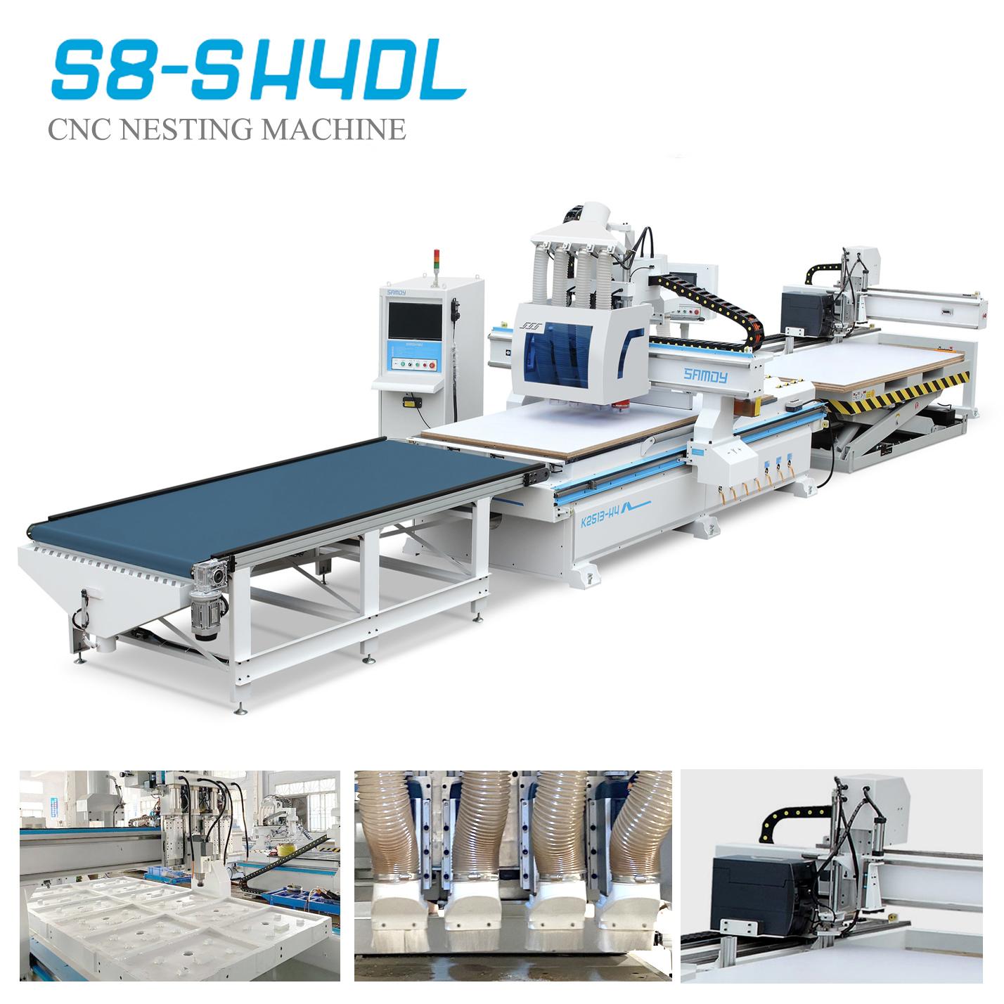 Hệ thống Auto Full Line CNC Nesting 4 đầu tự động dán tem S8-SH4DL